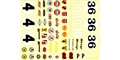 AML AML1185B 1/24 '60's sports car waterslide decals