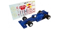 ALLSLOTCAR ASGP069 EVO F1 Slot Car Blue w/Decals