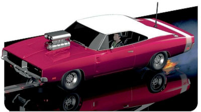 "Scalextric C3317 1969 Dodge Charger Supercharged ""Hot Rod"""