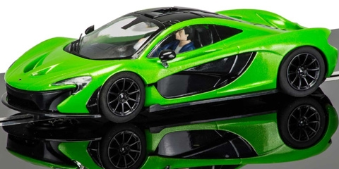 Scalextric C3756 Mclaren P1 Lime Green Pro Chassis Ready
