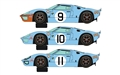 PREORDER Scalextric C3896A Legends Ford GT40 LeMans 1968 - Gulf Triple Pack - Limited Edition