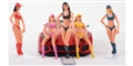 "Carrera CAR21114 1/32 ""Pit Babes"" -5 different babes / package (2 seated & 3 standing)"