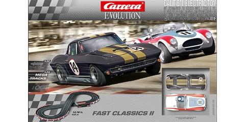 carrera car25215 1 32 evolution fast classics ii analog set. Black Bedroom Furniture Sets. Home Design Ideas