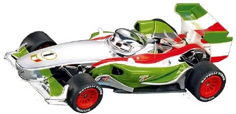 Carrera CAR61292 1/43 Disney Cars 2 Silver Francesco Bernoulli