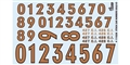 GOFER RACING GOF11028 1/24 / 1/25 Gold Numbers #3 Decal Sheet
