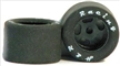 "H&R Racing HR1308 27X18MM SILICONE Tires 1/8"" Axle BLACK Hubs"