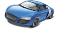 Revell M1690 1/24 Snap Tite Blue Audi R8 Static Model
