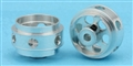 "MBSLOT MB19017 1/32 Ergal Rear Wheels 15.8mm x 10mm 3/32"" Axle"
