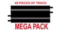 "Ninco N10102-MP Straight Track 400mm (15.76"") - 40 pcs. / package"