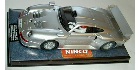 ninco n50148 porsche 911 gt1 silver road car vintage collectable. Black Bedroom Furniture Sets. Home Design Ideas