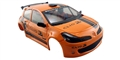 NSR NSR1337 RENAULT CLIO RALLY BODY Orange Presentation Livery tampoed unassembled