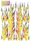 Parma P10767 Vinyl Self Stick Decal - Long Flames