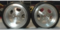 "Wilde Racing Products WRPW-06 HALIBRAND Drag Front Wheels 1/16"" Axle Silver"