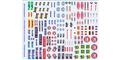 Royale Slot Car Accessories Z301 1/32 Waterslide Decals - Racing Sponsors