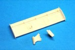 "BRM BRMS-004 Porsche 956C White Unpainted Rear Wing - Small ""B"" Version"