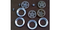 BRM BRMS-086A Wheel Inserts w/Rings & Nuts Ferrari 512M Unpainted