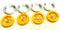 BRM BRMS-086Y YELLOW Wheel Inserts w/Rings & Nuts Ferrari 512M