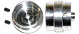 "BWA BW32008 1/32 scale 18"" LMP machined aluminum wheels - Width 0.420"" - 3/32"" axle."