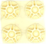 "BWA BW32219 1/32 resin molded wheel inserts - 0.45"" O.D. modern import hot rod style"