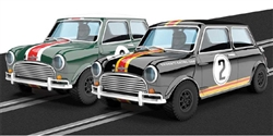 Scalextric C3586A Mini Cooper Australian 2 Car Set Limited Edition