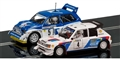 Scalextric C3590A Peugeot 205 & MG Metro 6R4 2 Car Set