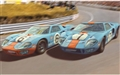 PREORDER Scalextric C4041a FORD GT40 1969 GULF TWIN PACK