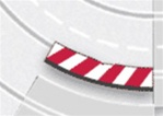 Carrera CAR20594 Inside Shoulder for Radius 2 30° BANKED Turn - Red/White