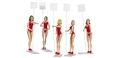 "Carrera CAR21113 1/32 ""Grid Girls"" -5 different girls / package with  sign posts"