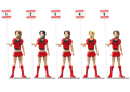 "Carrera CAR21123 1/32 ""Grid Ladies"" -5 different girls / package with  sign posts"