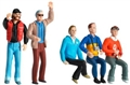 Carrera CAR21127 1/32 Spectator Figures - Set of 5 pcs. nicely painted