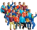 Carrera CAR21108 1/32 Spectator Figures - Set of 20 pcs. nicely painted seated figures
