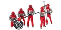 Carrera CAR21131 1/32 Mechanics Figures - Set of 5 pcs. nicely painted