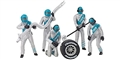 Carrera CAR21133 1/32 Mechanics Figures - Set of 5 pcs. nicely painted