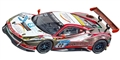 "Carrera CAR27591 Analog 1/32 RTR Ferrari 488 GT3 ""WTM Racing, No.22"""