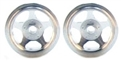 CB Design CBD0015 5-Spoke 1/32 RACING Wheels 15x10mm SILVER