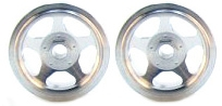 CB Design CBD0025 5-Spoke 1/32 RACING Wheels 15x12mm SILVER