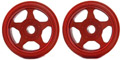 CB Design CBD0310 5 Spoke 1/32 Classic Aluminum Wheels 15x12mm Red