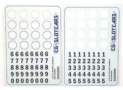 CG Slotcars CGSCD001 Generic Meatballs / Roundels with Numbers