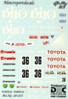 DMC DMC24-033 Waterslide 1/24 Decal - Toyota Supra. BIYOU. Spa 24-H 1989