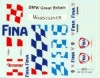 DMC DMC24-060 Waterslide 1/24 Decal - BMW 320i. FINA. Ravaglia. BTCC 1996