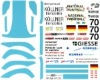 DMC DMC24-116 Waterslide 1/24 Decal - Porsche 911 GT2. KONRAD MOTORSPORT. Le Mans