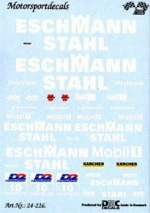 "DMC DMC24-216 Waterslide 1/24 Decal - Mercedes CLK ""Eschmann Stahl"" DTM"