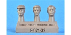Immense Miniatures F021-32 1/32 Resin Molded Figure - Civilian Heads