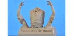 Immense Miniatures F023-32 1/32 Resin Molded Figure - 1950's Short Sleeve Torso