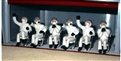 Slot Track Scenics FIG09 Set of 3 UNPAINTED Seated Pit Crew & 3 Chairs