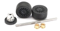 FLY FLY-B575 REAR AXLE ASSY COMPLETE INLINE STRONIUM WHEELS