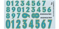 GOFER RACING GOF11013 1/24 / 1/24 Stock Car Numbers #1 Decal Sheet