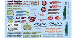 GOFER RACING GOF11016 1/24 / 1/24 Hometown Sponsors Decal Sheet
