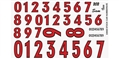 GOFER RACING GOF11018 1/24 / 1/24 Stock Car Numbers #2 Decal Sheet