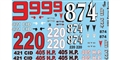 GOFER RACING GOF11021 1/24 / 1/25 Pontiac Racing Waterslide Decals